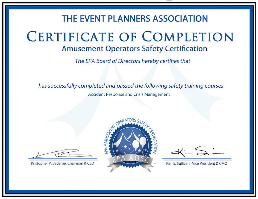 Funpro Certificate: Event Planners Association - Event and Meeting ...